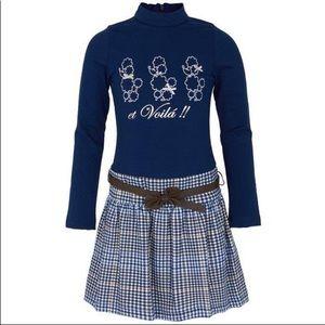 NEW ❗️Mayoral Chic plaid dress with belt 😍